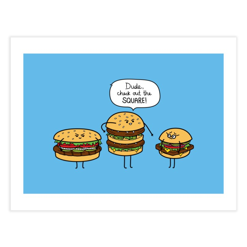Burger Bullies Home Fine Art Print by Mouki K. Butt: Artist Shop
