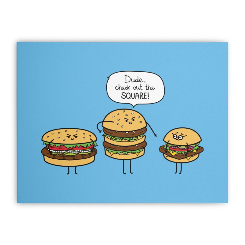 Burger Bullies Home Stretched Canvas by Mouki K. Butt: Artist Shop