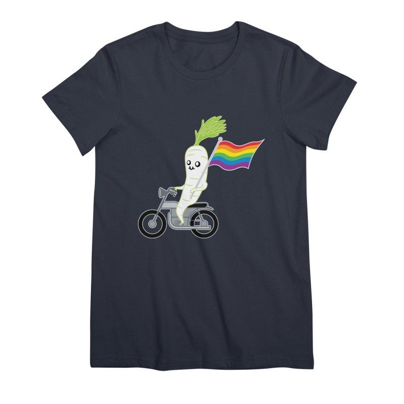 Daikon Bike II Women's Premium T-Shirt by Mouki K. Butt: Artist Shop