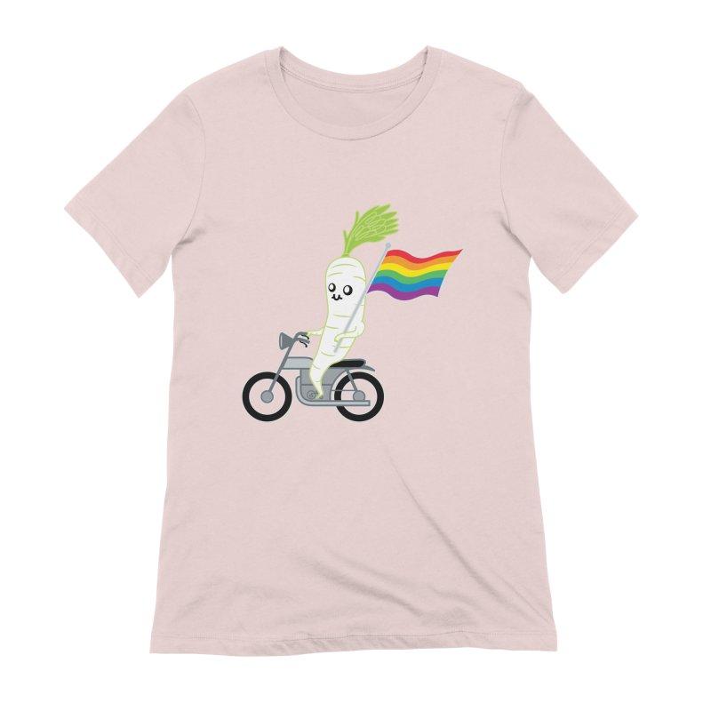 Daikon Bike II Women's Extra Soft T-Shirt by Mouki K. Butt: Artist Shop