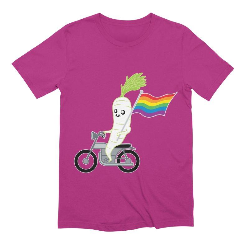 Daikon Bike II Men's Extra Soft T-Shirt by Mouki K. Butt: Artist Shop