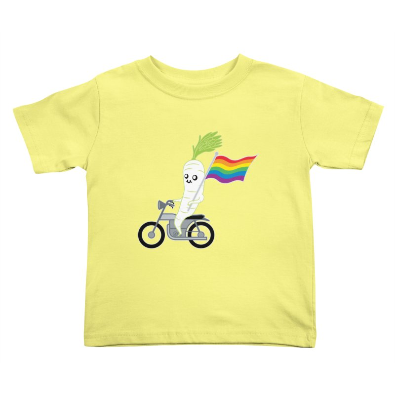 Daikon Bike II Kids Toddler T-Shirt by Mouki K. Butt: Artist Shop
