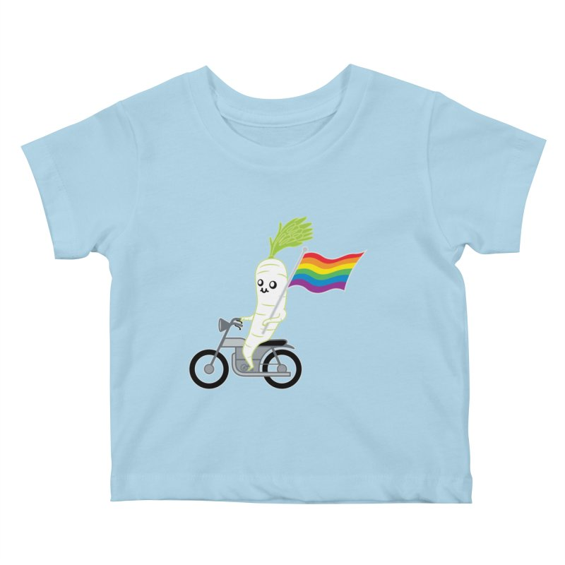 Daikon Bike II Kids Baby T-Shirt by Mouki K. Butt: Artist Shop