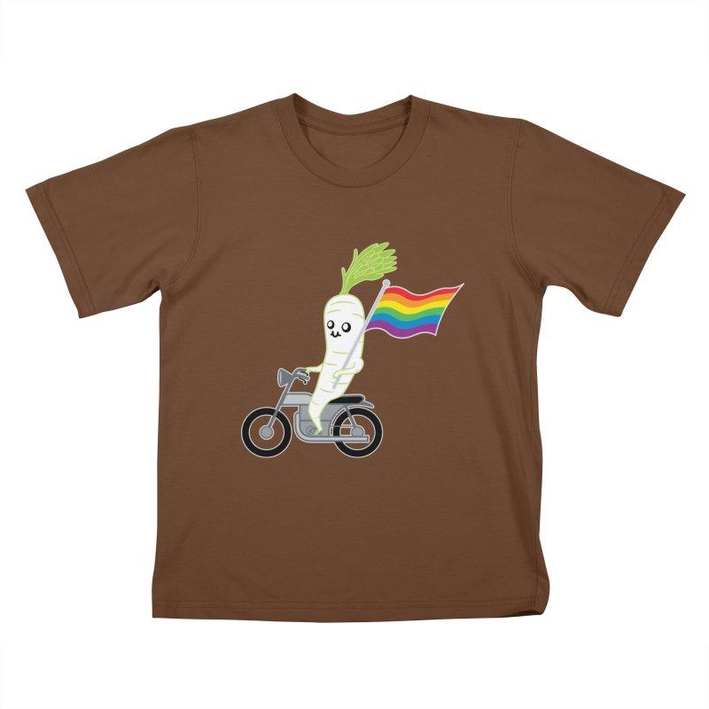 Daikon Bike II Kids T-Shirt by Mouki K. Butt: Artist Shop
