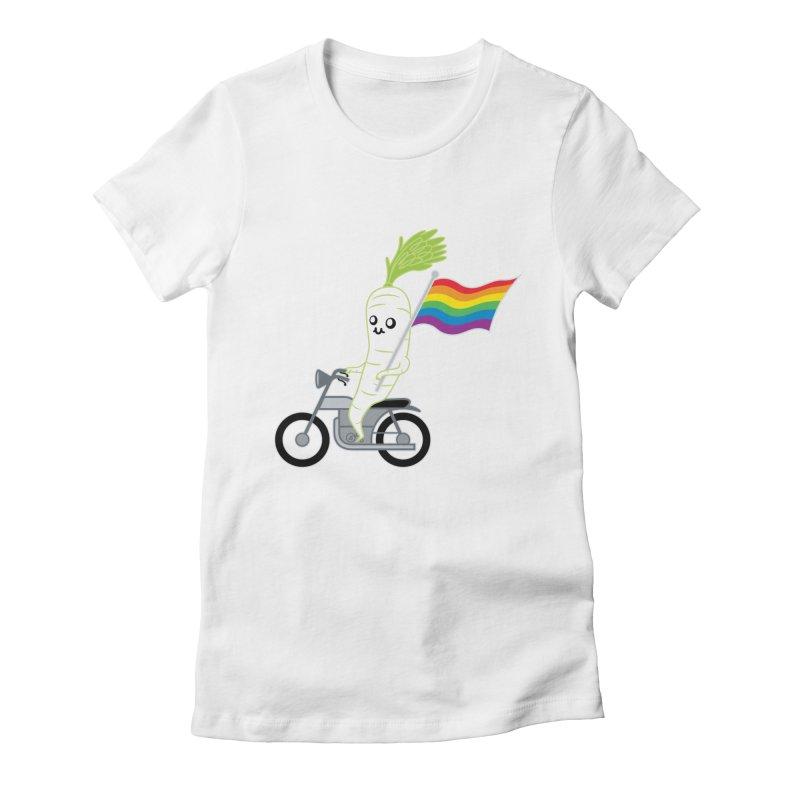 Daikon Bike II Women's Fitted T-Shirt by Mouki K. Butt: Artist Shop