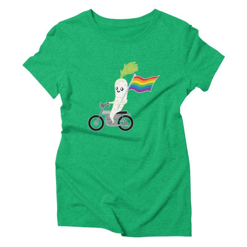 Daikon Bike II Women's Triblend T-Shirt by Mouki K. Butt: Artist Shop