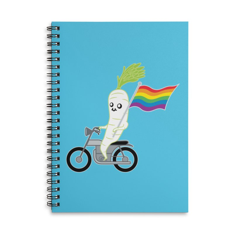 Daikon Bike II Accessories Lined Spiral Notebook by Mouki K. Butt: Artist Shop