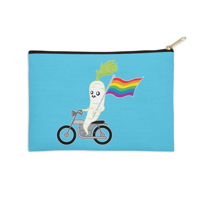 Daikon Bike Accessories Zip Pouch by Mouki K. Butt: Artist Shop