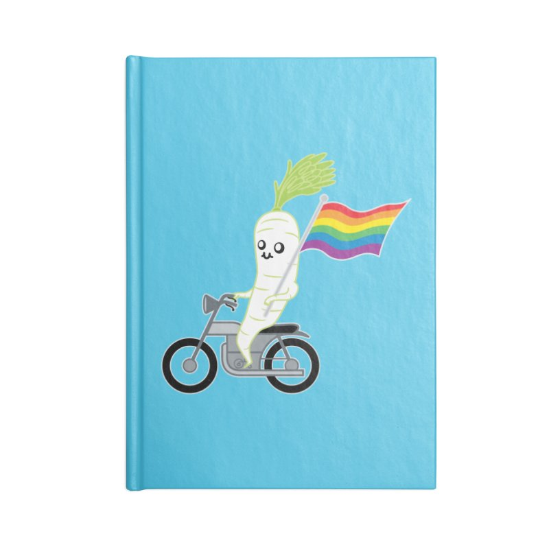 Daikon Bike Accessories Notebook by Mouki K. Butt: Artist Shop