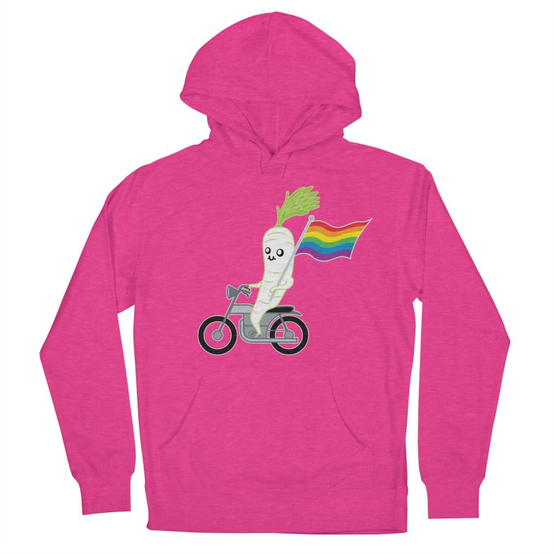 Daikon Bike Men's Pullover Hoody by Mouki K. Butt: Artist Shop