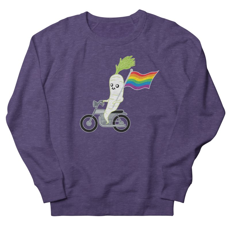 Daikon Bike Women's French Terry Sweatshirt by Mouki K. Butt: Artist Shop