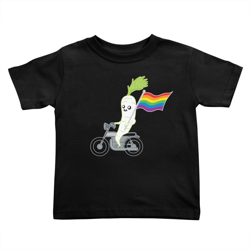 Daikon Bike Kids Toddler T-Shirt by Mouki K. Butt: Artist Shop