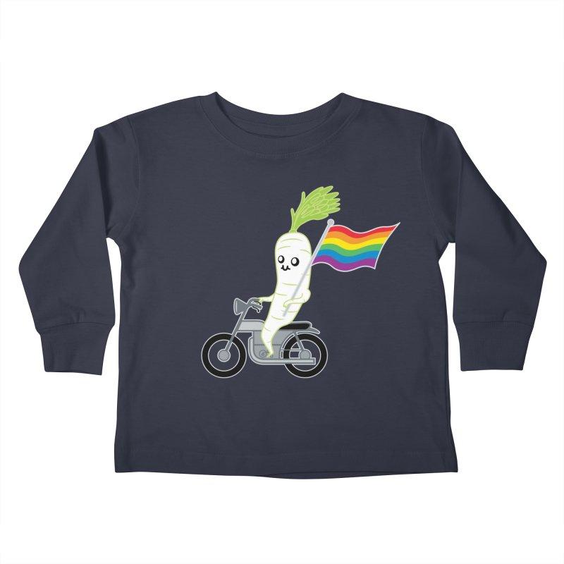 Daikon Bike Kids Toddler Longsleeve T-Shirt by Mouki K. Butt: Artist Shop