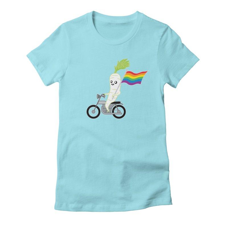 Daikon Bike Women's Fitted T-Shirt by Mouki K. Butt: Artist Shop