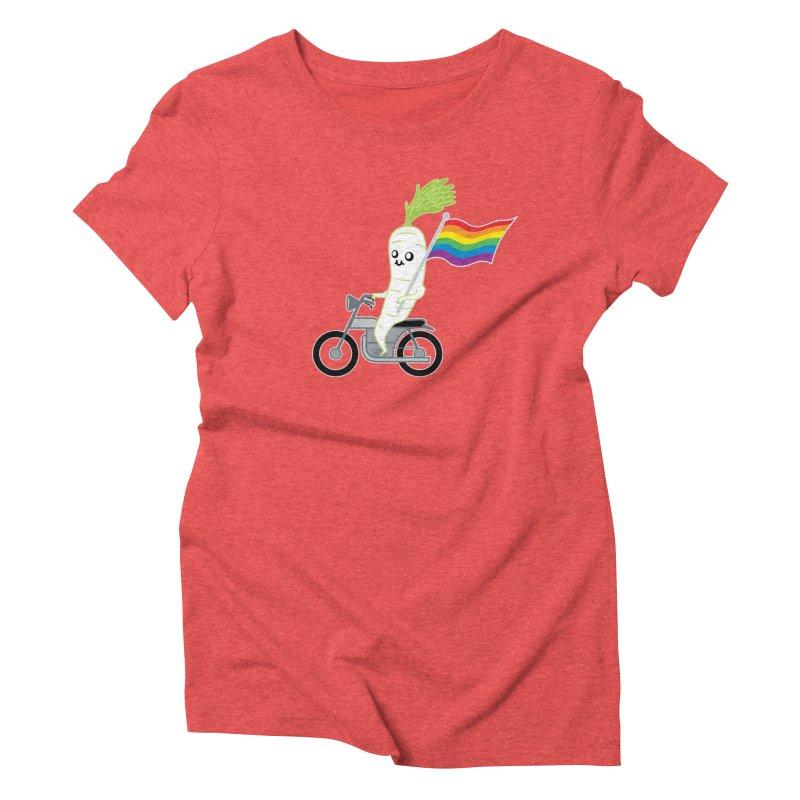 Daikon Bike Women's Triblend T-Shirt by Mouki K. Butt: Artist Shop