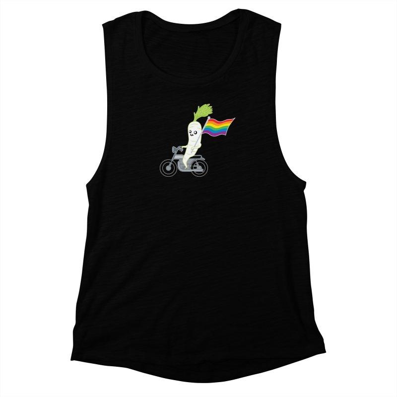 Daikon Bike Women's Muscle Tank by Mouki K. Butt: Artist Shop