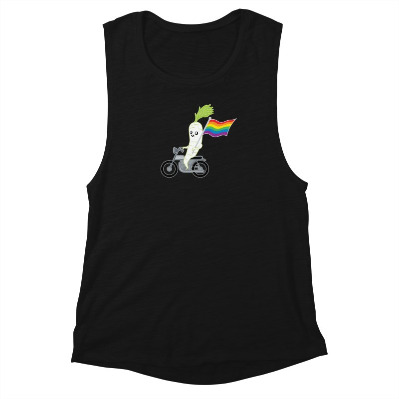 Daikon Bike Women's Muscle Tank by Mouki K. Butt: Artist Shop