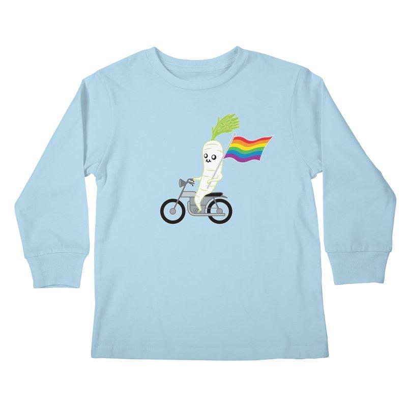 Daikon Bike Kids Longsleeve T-Shirt by Mouki K. Butt: Artist Shop