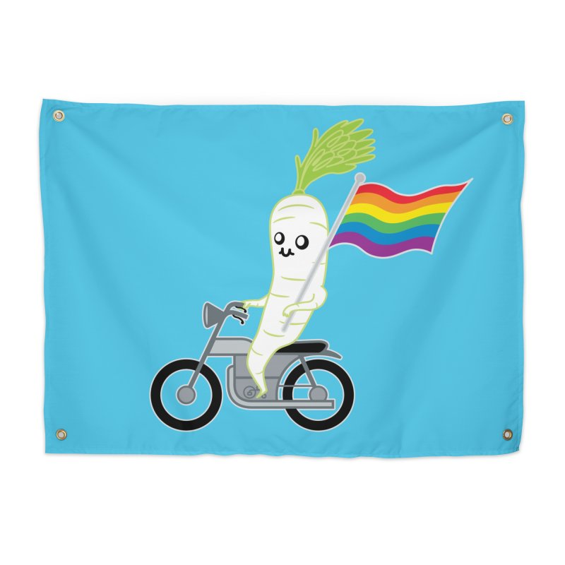 Daikon Bike Home Tapestry by Mouki K. Butt: Artist Shop