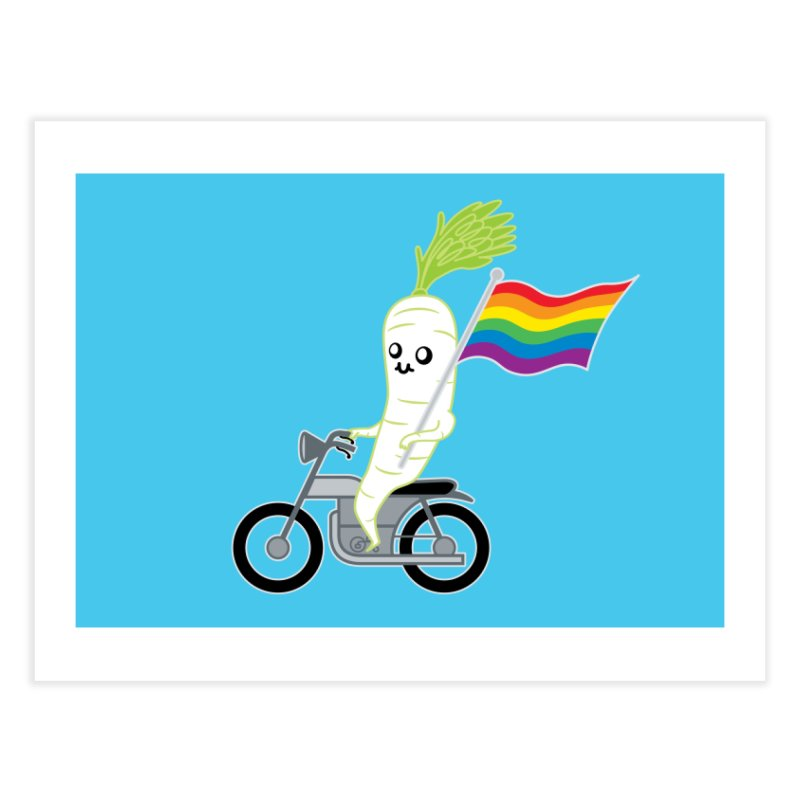 Daikon Bike Home Fine Art Print by Mouki K. Butt: Artist Shop