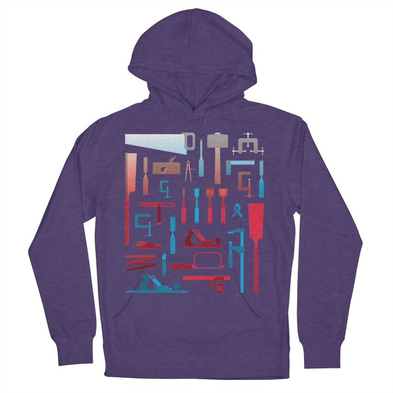 Woodworking Tools I Women's French Terry Pullover Hoody by Mouki K. Butt: Artist Shop