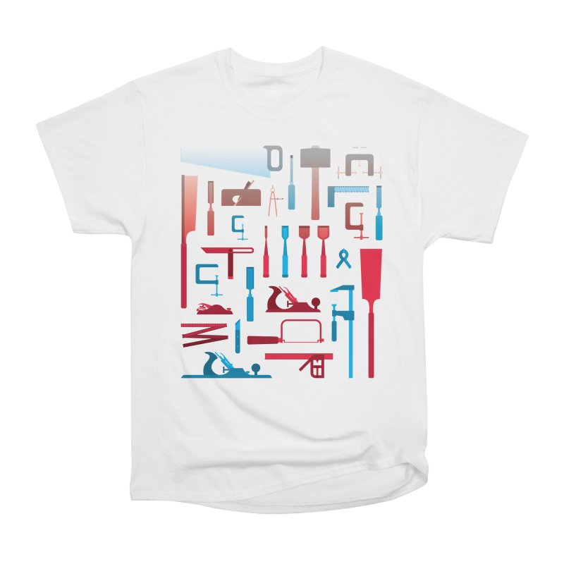 Woodworking Tools I Men's Heavyweight T-Shirt by Mouki K. Butt: Artist Shop