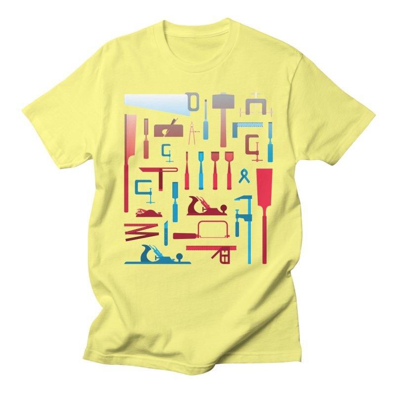 Woodworking Tools I Men's Regular T-Shirt by Mouki K. Butt: Artist Shop