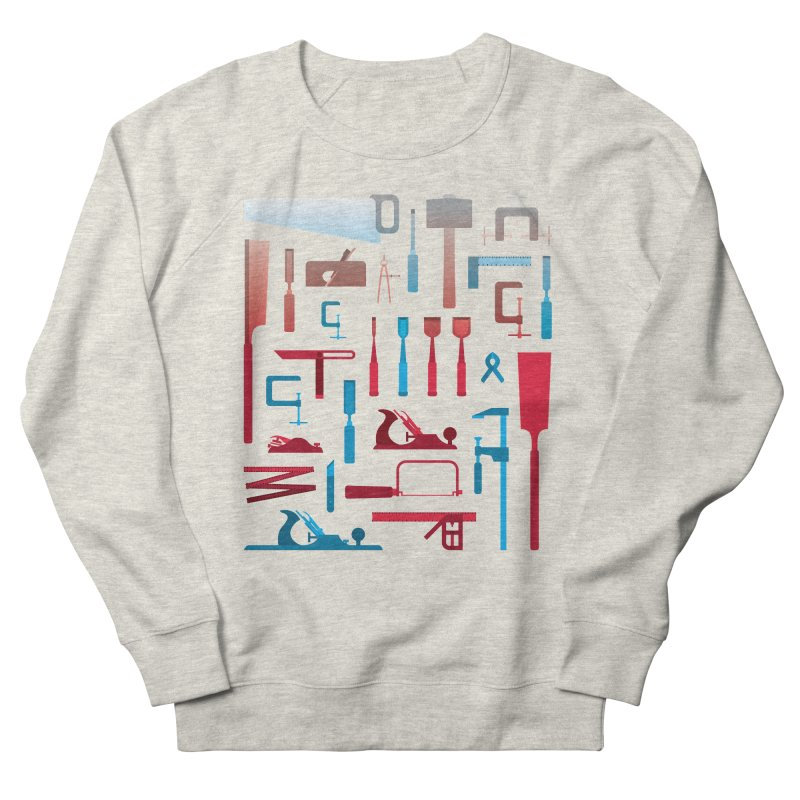Woodworking Tools I Men's French Terry Sweatshirt by Mouki K. Butt: Artist Shop