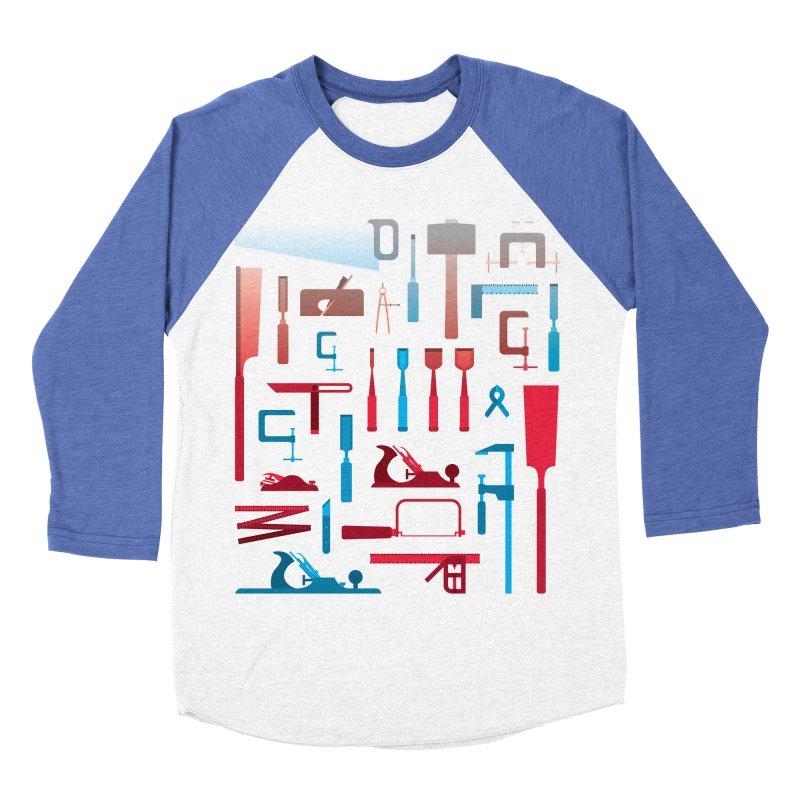 Woodworking Tools I Women's Baseball Triblend T-Shirt by Mouki K. Butt: Artist Shop