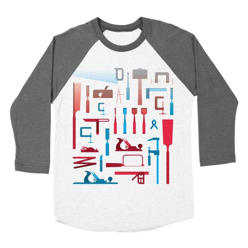Woodworking Tools I Men's Baseball Triblend T-Shirt by Mouki K. Butt: Artist Shop