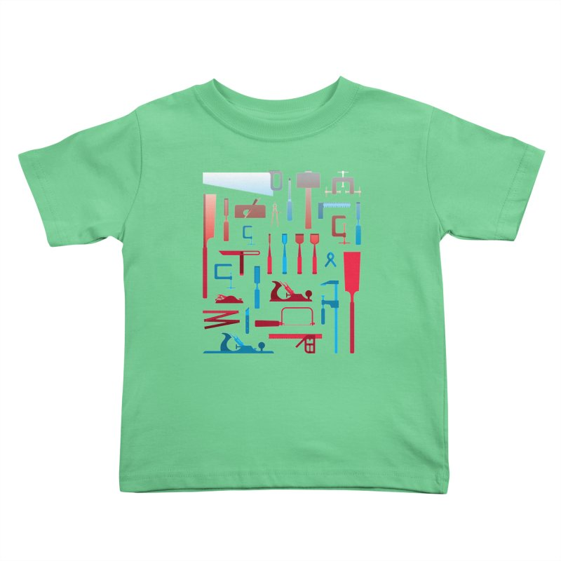 Woodworking Tools I Kids Toddler T-Shirt by Mouki K. Butt: Artist Shop