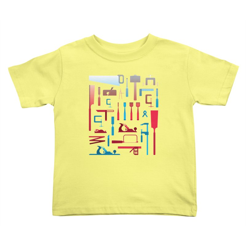 Woodworking Tools I Kids Toddler T-Shirt by Mouki K. Butt: Artist Shop