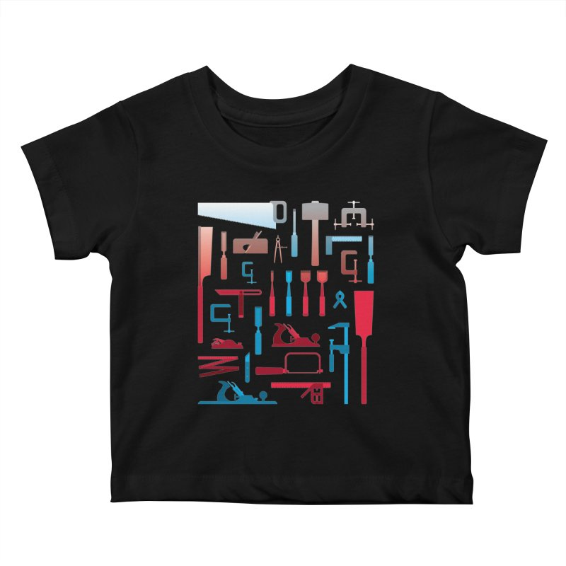 Woodworking Tools I Kids Baby T-Shirt by Mouki K. Butt: Artist Shop