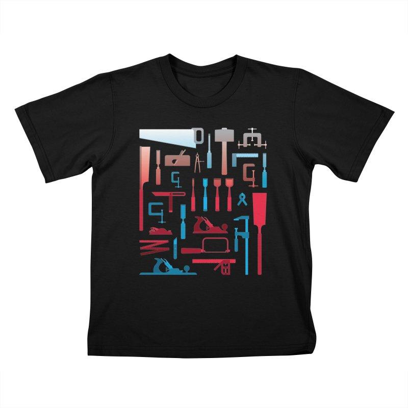 Woodworking Tools I Kids T-Shirt by Mouki K. Butt: Artist Shop