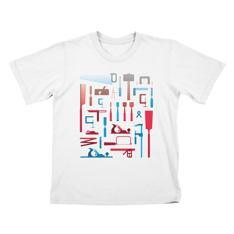 Woodworking Tools I Kids T-Shirt by Mouki K. Butt: Artist Shop