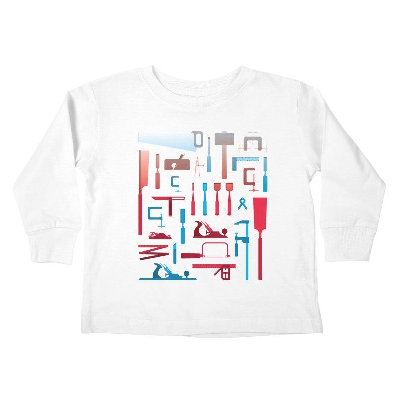 Woodworking Tools I Kids Toddler Longsleeve T-Shirt by Mouki K. Butt: Artist Shop