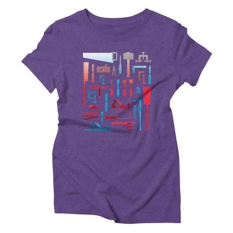 Woodworking Tools I Women's Triblend T-Shirt by Mouki K. Butt: Artist Shop