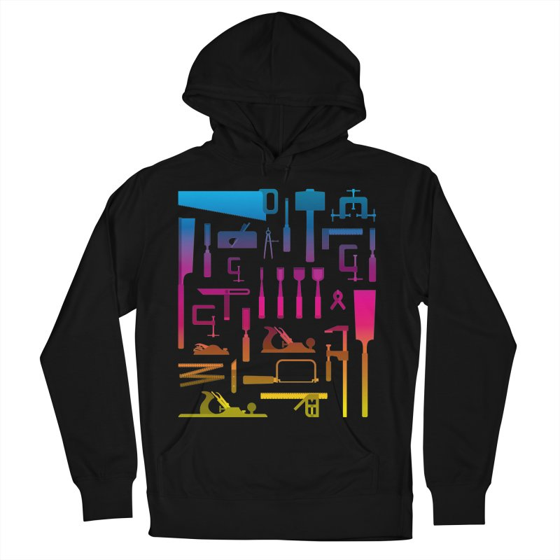 Woodworking Tools II Men's French Terry Pullover Hoody by Mouki K. Butt: Artist Shop