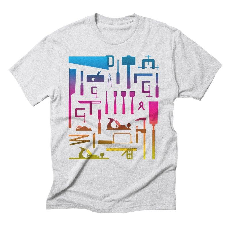 Woodworking Tools II Men's Triblend T-Shirt by Mouki K. Butt: Artist Shop