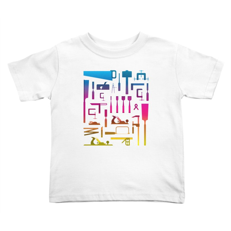 Woodworking Tools II Kids Toddler T-Shirt by Mouki K. Butt: Artist Shop