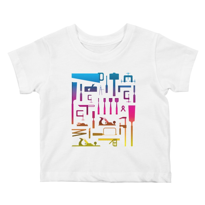 Woodworking Tools II Kids Baby T-Shirt by Mouki K. Butt: Artist Shop