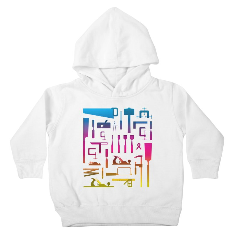 Woodworking Tools II Kids Toddler Pullover Hoody by Mouki K. Butt: Artist Shop