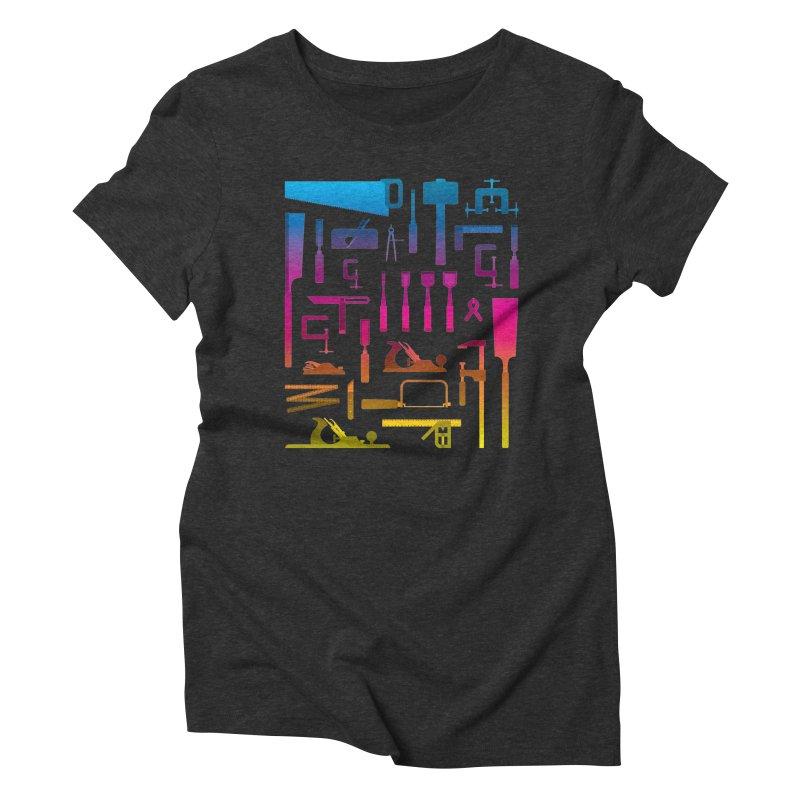 Woodworking Tools II Women's Triblend T-Shirt by Mouki K. Butt: Artist Shop