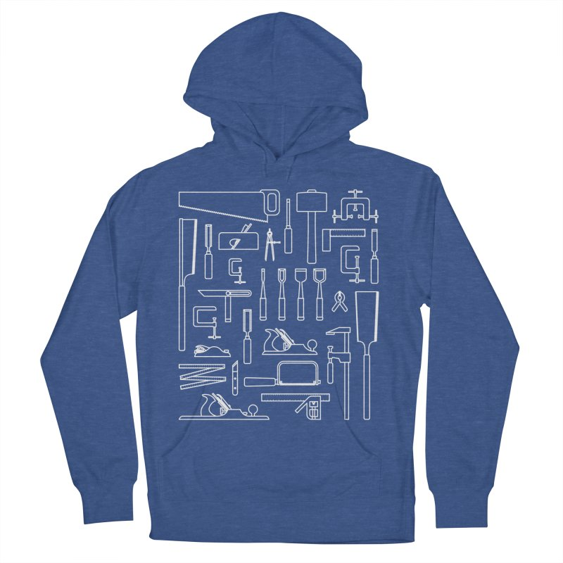 Woodworking Tools III Women's French Terry Pullover Hoody by Mouki K. Butt: Artist Shop