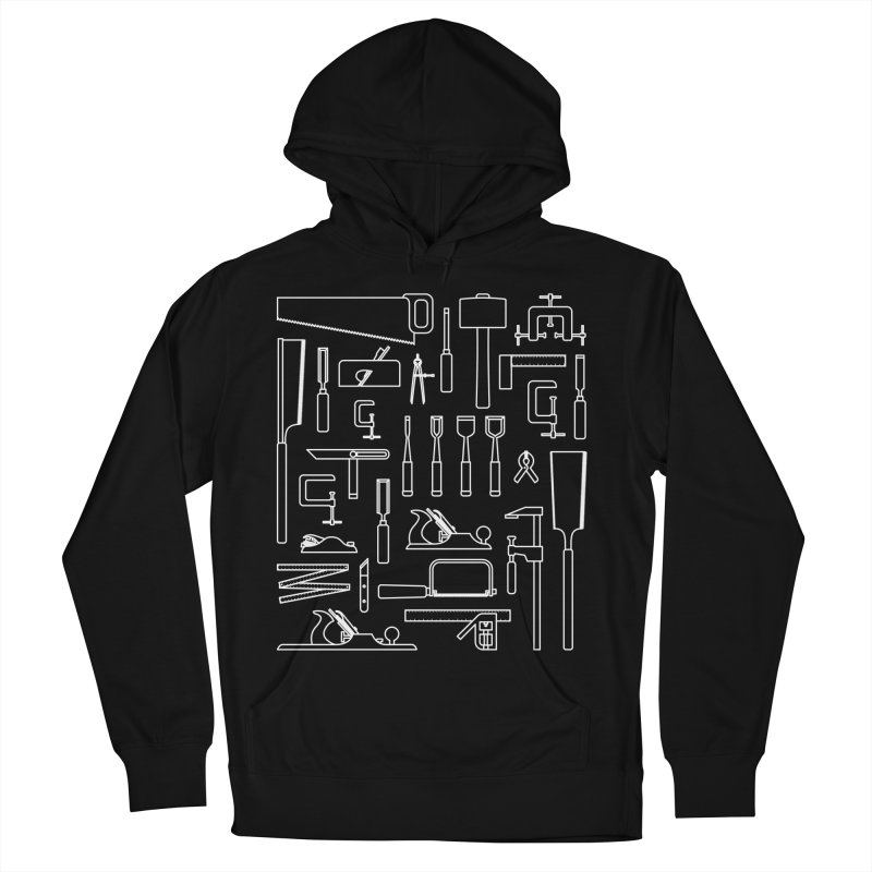 Woodworking Tools III Men's French Terry Pullover Hoody by Mouki K. Butt: Artist Shop