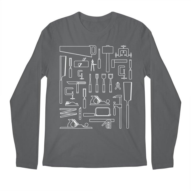 Woodworking Tools III Men's Longsleeve T-Shirt by Mouki K. Butt: Artist Shop