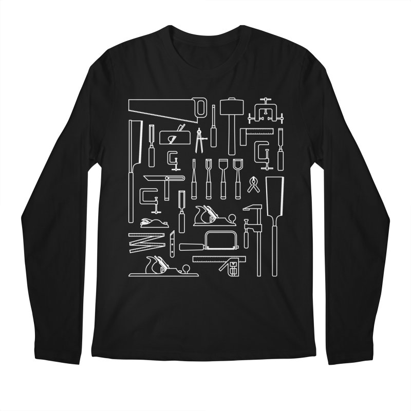 Woodworking Tools III Men's Regular Longsleeve T-Shirt by Mouki K. Butt: Artist Shop