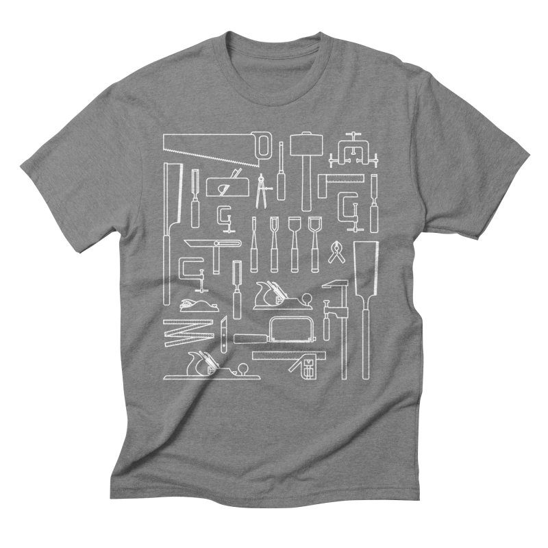 Woodworking Tools III Men's Triblend T-Shirt by Mouki K. Butt: Artist Shop