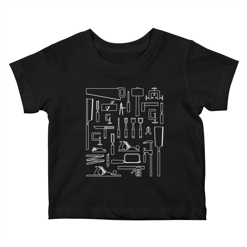 Woodworking Tools III Kids Baby T-Shirt by Mouki K. Butt: Artist Shop