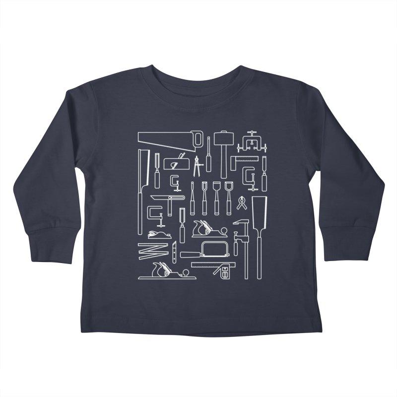 Woodworking Tools III Kids Toddler Longsleeve T-Shirt by Mouki K. Butt: Artist Shop